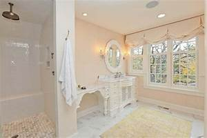 master bath With shabby chic master bathroom