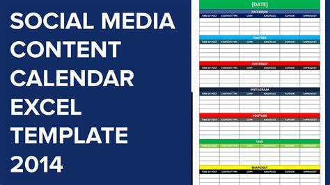 social media calender template excel  editorial