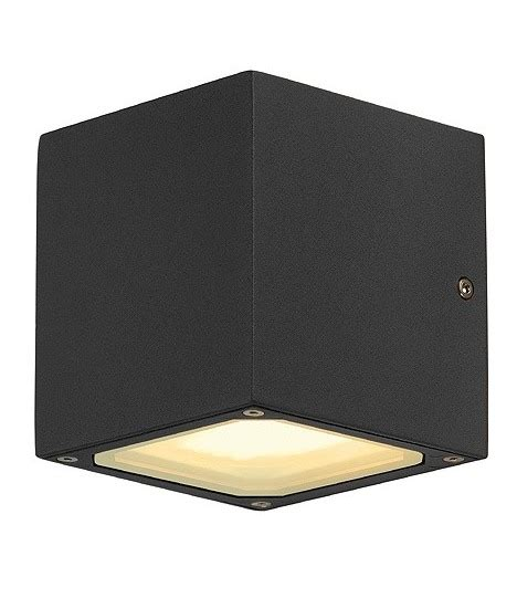 exterior up and wall light in a cube shape