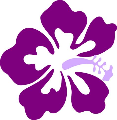 Purple Clipart Purple Hibiscus2 Clip At Clker Vector Clip
