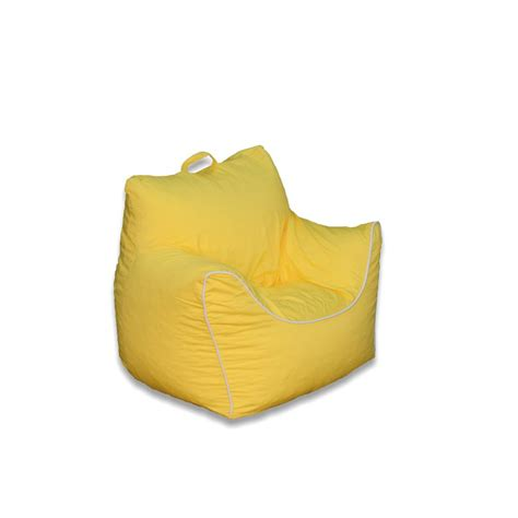 yellow poly cotton structured bean bag 9570101 the home