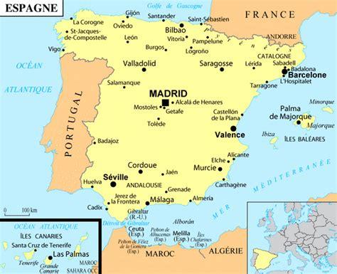 Carte D Espagne Avec Villes by Plans De Villes En Espagne