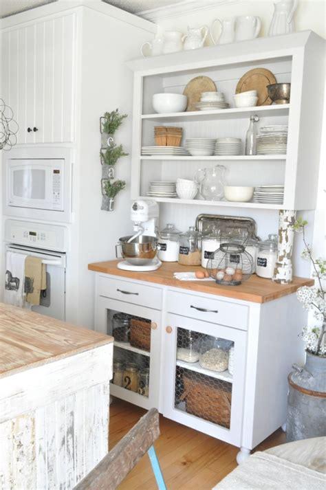 vintage  antique cabinet  chic kitchen homesfeed
