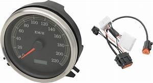 Drag Specialties Kmh Speedo Speedometer  U0026 Harness For 1998