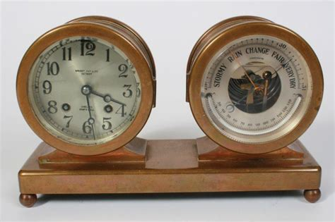 Chelsea Bronze Barometer And Ship's Bell Clock Price Guide
