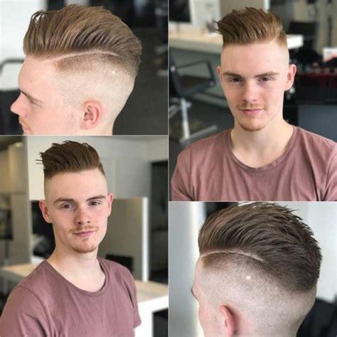 moderne frisuren maenner sidecut nach hinten gestylt