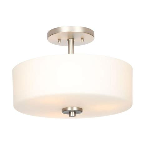 Home Depot Ceiling L Shades by Hton Bay 3 Light Brushed Nickel Semi Flush Mount Light