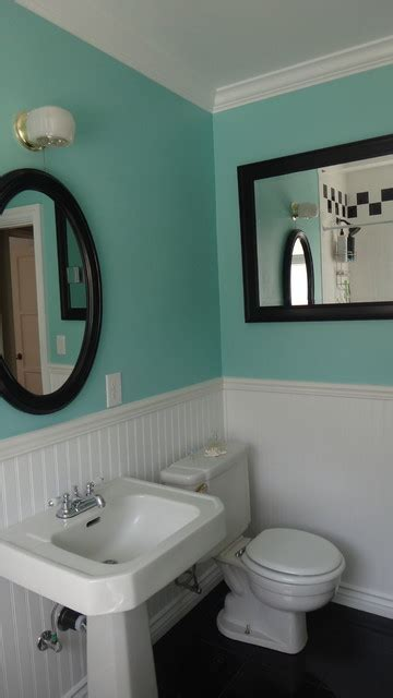 1940's Bathroom Remodel (old in yellow   new in blue