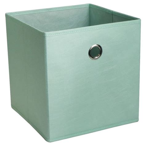 fabric cube storage bin  mint green room