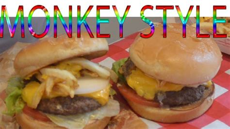 EATING MONKEY ... STYLE BURGERS IN-N-OUT BURGER - YouTube