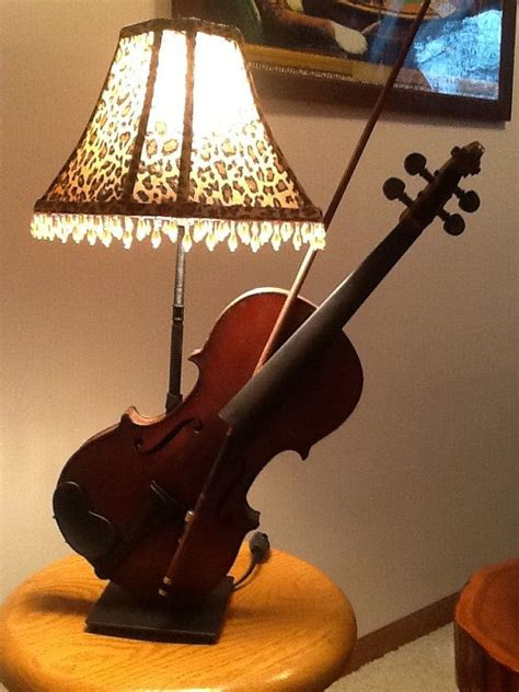 artsy violin lamp  musicallightingmn  etsy
