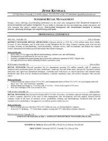 Manager Resume Exles 2016 by Retail Manager Resume Exles 2016 By Jk Writing Resume