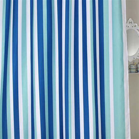 blue stripe shower curtain
