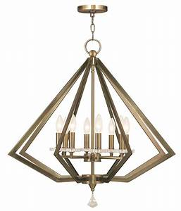 Livex lighting diamond light chandelier shown in