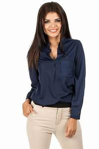 Blaue Latzhose Damen : moe bluse mit stehkragen skylt ~ Yasmunasinghe.com Haus und Dekorationen