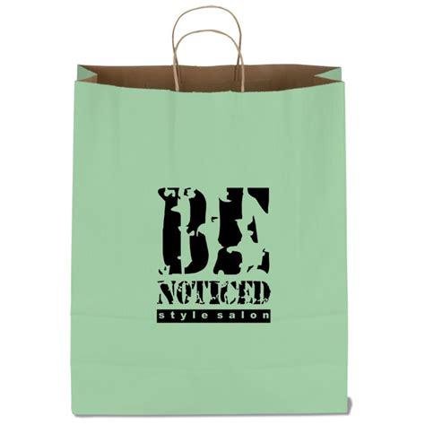 """4imprint.com: Tonal Striped Matte Paper Bag - 19-1/4"""" x 16"""