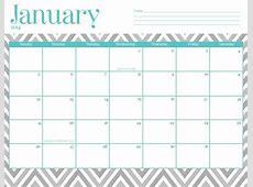 January 2018 Calendar Cute calendar for 2019