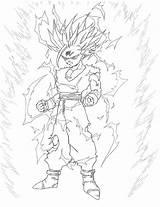 Gohan Ssj2 sketch template