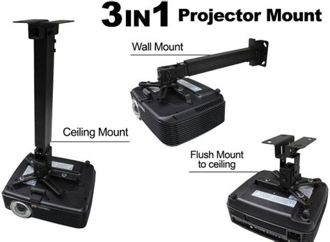 ceiling mount for projector singapore eilte 3 in 1 ceiling wall flush projector bracket 45 65cm