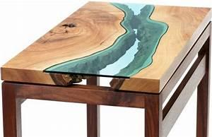 Table Verre Bois : la table basse bois et verre en 43 photos d 39 int rieur ~ Teatrodelosmanantiales.com Idées de Décoration