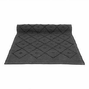 tapis laine diamond gris anthracite naco decoration With tapis gris anthracite