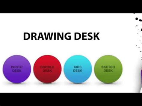 drawing desk app youtube