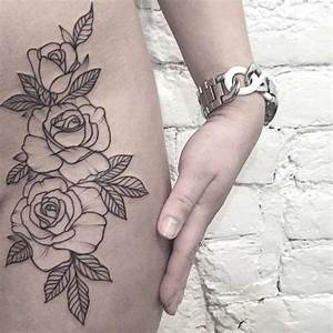floral-hip-tattoo | — Tattoos ON Women — | Pinterest | For ...