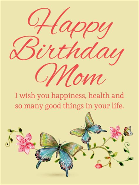 butterfly birthday card  mom birthday greeting