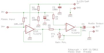 Piezopreamp Bread Sch Audio Preamp Circuits For