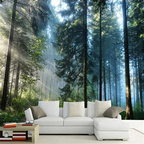 forest  sunshine  trees photo print wall mural