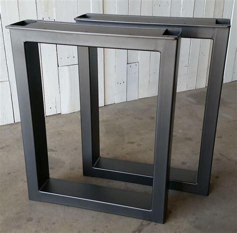 metal desk legs custom made metal table legs burton by ironcraft