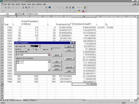 matrices solver excel