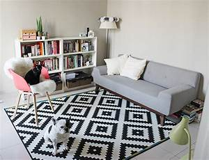 tapis style scandinave pas cher urbantrottcom With tapis design avec canape conforama scandinave