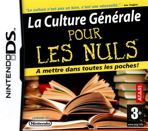 culture interieur pour les nuls la culture g 233 n 233 rale pour les nuls sur nintendo ds jeuxvideo