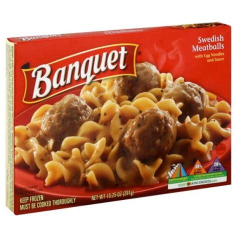 dusty us diaries banquet frozen dinners swedish meatballs