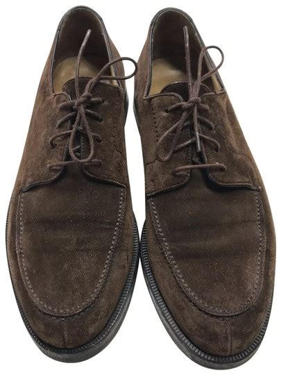 cole haan brown suede leather lace  mens oxford  flats