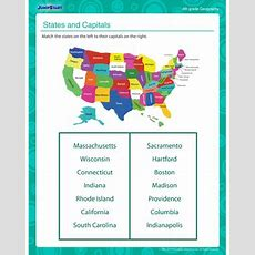 States And Capitals  Free Printable Geography Worksheet For 3rd Grade Jumpstart