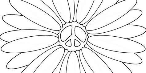 Coloring Pages Peace Signs And Flowers 704015