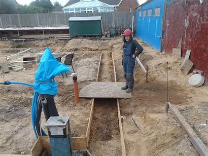 Foundation Shuttering Trenches Edging Finished Roselea