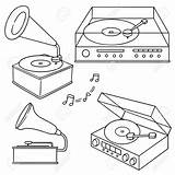 Record Player Phonograph Drawing Tattoo Drawings Illustrations Clip Sketchbook Inspiration Printing Project Clipart 123rf Cool Line Sketch sketch template