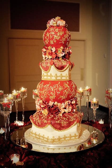 Beautiful Wedding Cake For Indian Wedding By Sonia