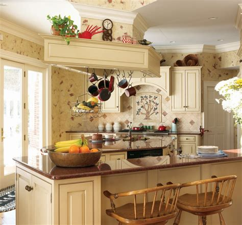 Kitchen Decorating Ideas Photos by 3 Colors Option For Country Kitchen Wallpaper Theydesign