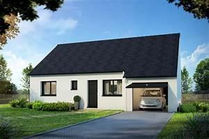 Maison Plain Pied En L : plan maison de plain pied avec 2 chambres villacosi 75 m ~ Melissatoandfro.com Idées de Décoration