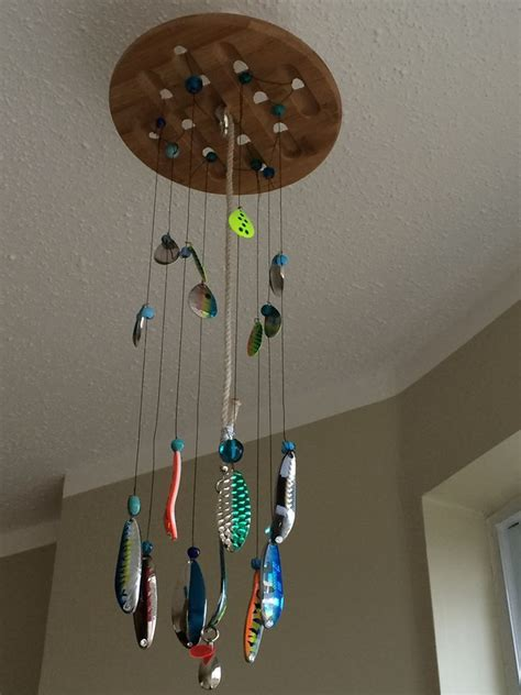 images  fishing lure wind chimes  pinterest