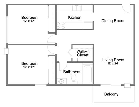 15 2 Bedroom Apartment Building Floor Plans Hobbylobbysinfo