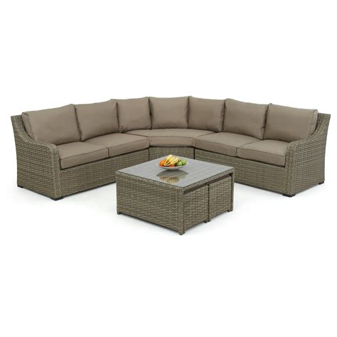 Settee Cushion Set by Maze Rattan Milan 7 Seater Sectional Sofa Set With