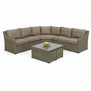 Maze rattan milan 7 seater sectional sofa set with for 7 seater sectional sofa set