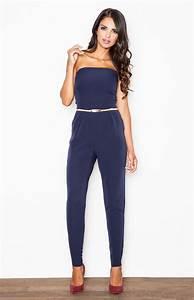 Combinaison Pantalon Femme Bleu Marine : combinaison bleu marine ~ Dallasstarsshop.com Idées de Décoration