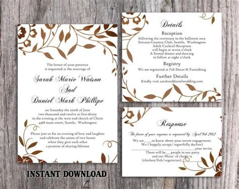 wedding invitation template  printable wedding