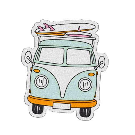sticker cute retro vintage hippie aesthetic hippievan...